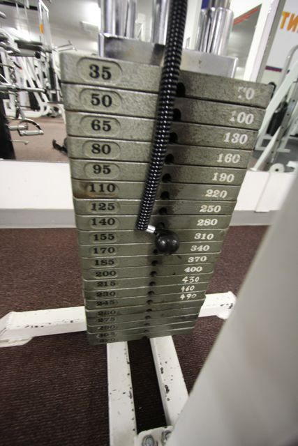 curl weight machine