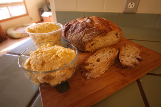 humus and bread
