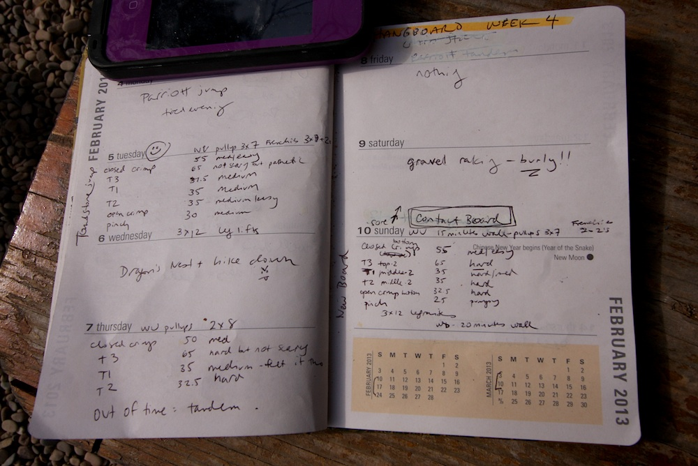 weight training log book