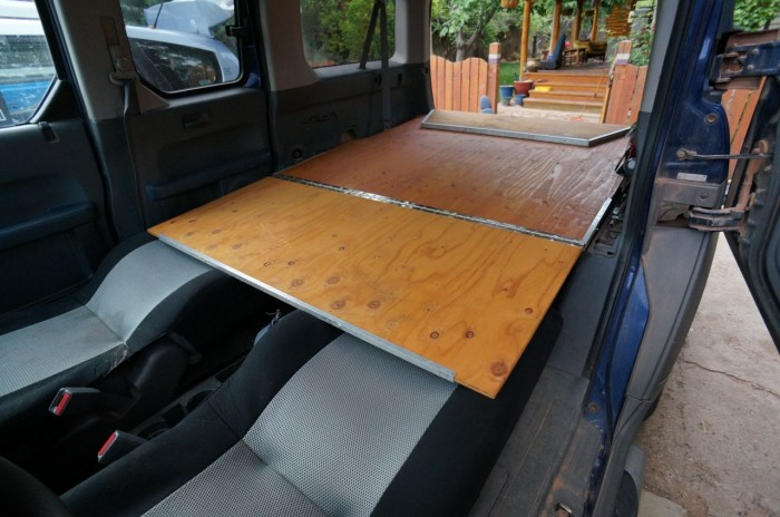 Dogs and Honda Element Bed Platform | Steph Davis - High ...