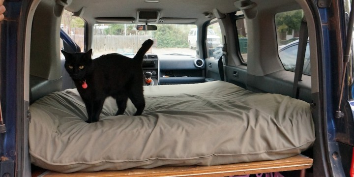Dogs and Honda Element Bed Platform | Steph Davis - High Places