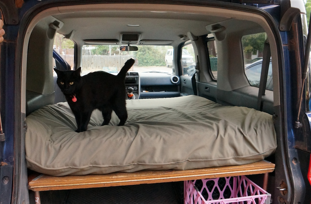 What To Do With Old Car Seats >> Dogs and Honda Element Bed Platform | Steph Davis - High Places