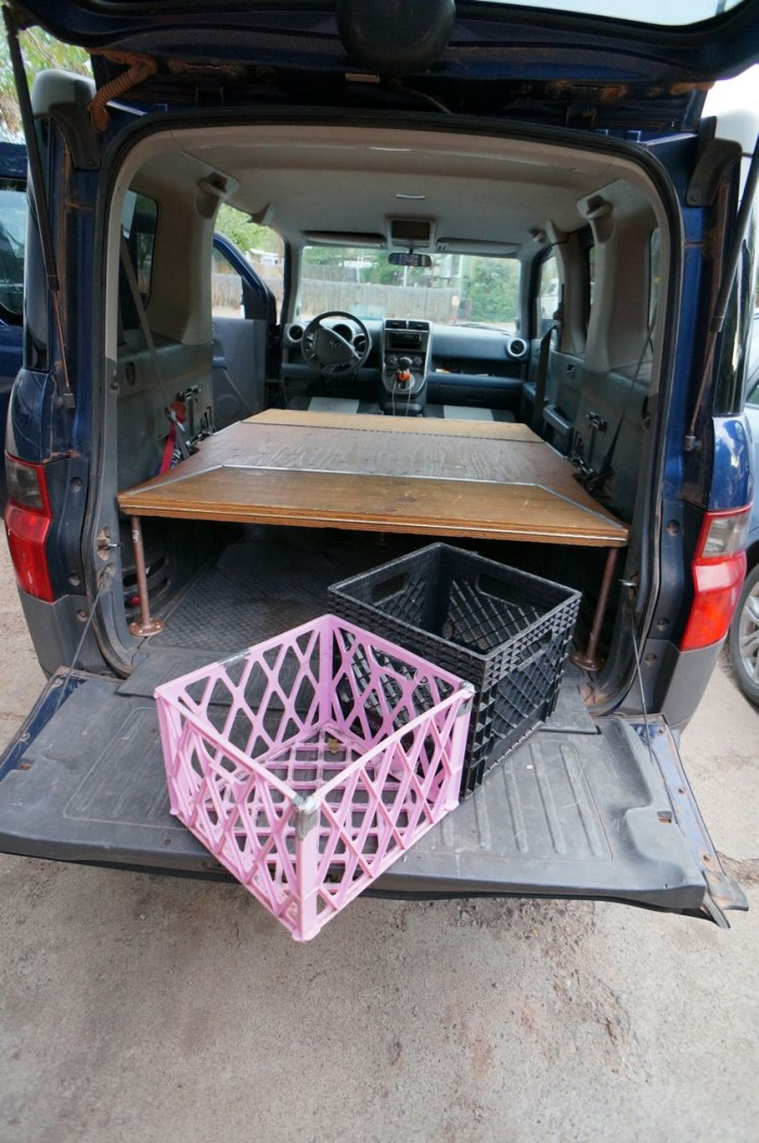 Dogs and Honda Element Bed Platform | Steph Davis - High ...