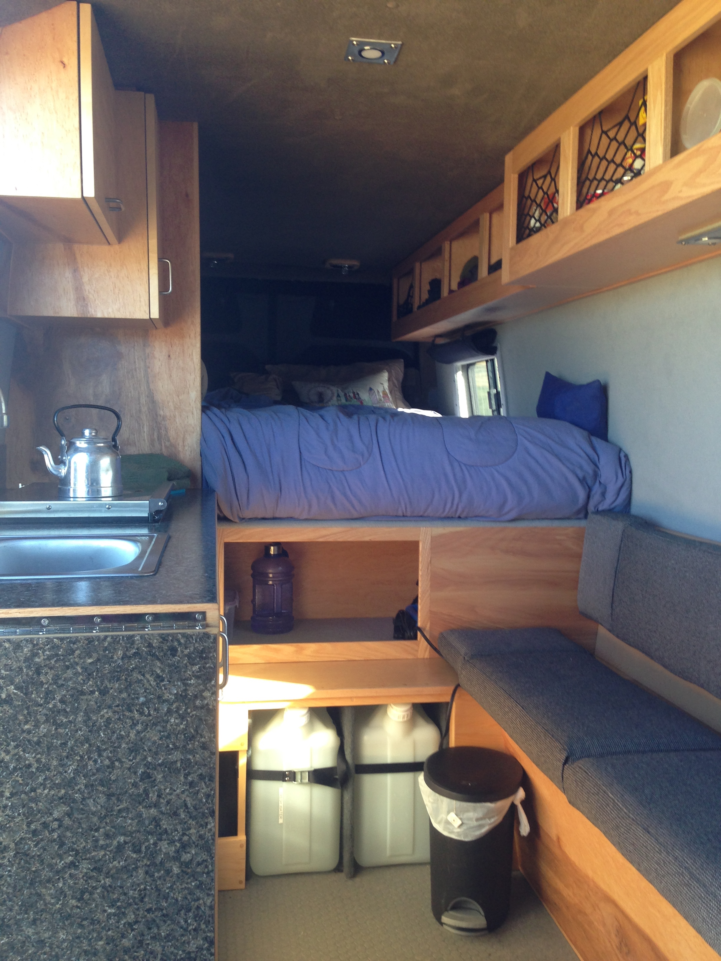 Sprinter van buildout van living 4 steph davis high for Average life of a mattress