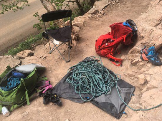 rope bag at rifle